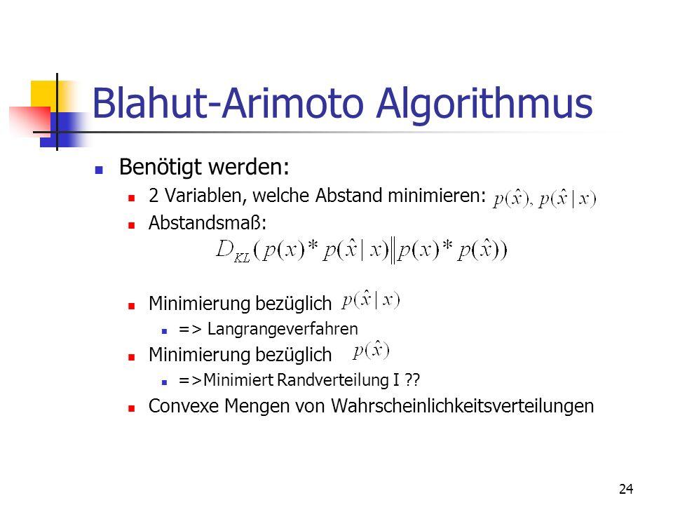 Blahut-Arimoto Algorithmus