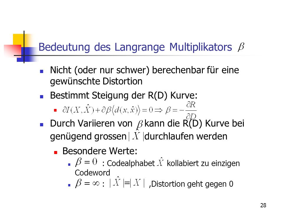 Bedeutung des Langrange Multiplikators
