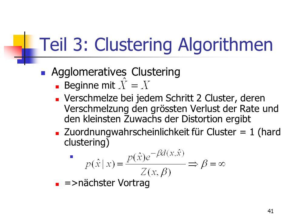 Teil 3: Clustering Algorithmen