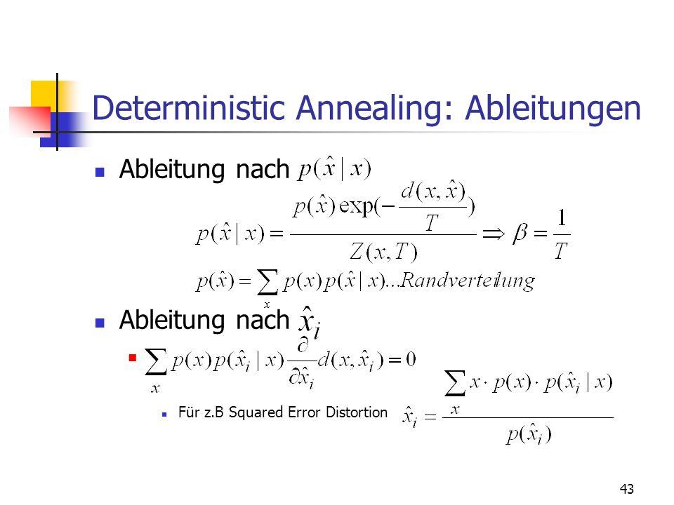 Deterministic Annealing: Ableitungen
