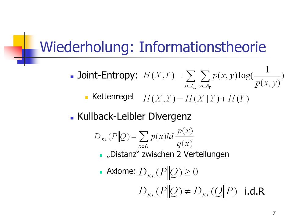 Wiederholung: Informationstheorie