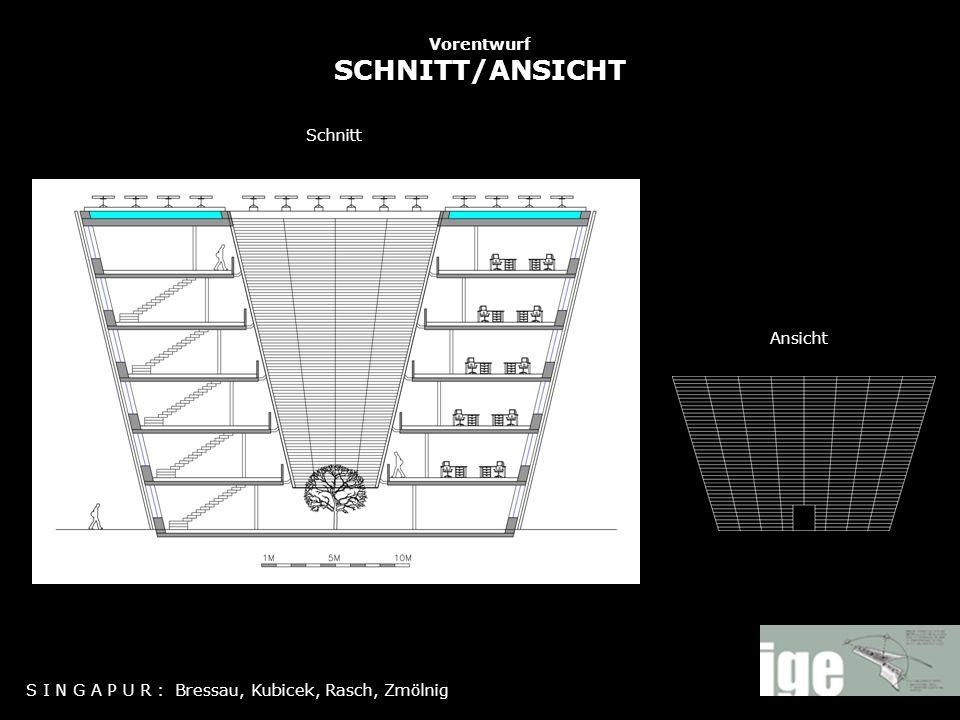 Vorentwurf SCHNITT/ANSICHT