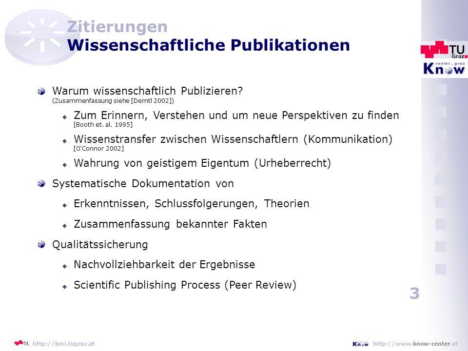Zitierungen Wissenschaftliche Publikationen