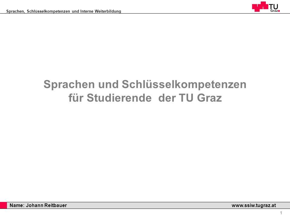 Sprachen und Schlüsselkompetenzen für Studierende der TU Graz