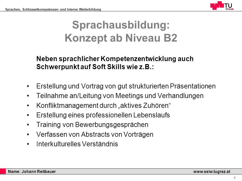Sprachausbildung: Konzept ab Niveau B2