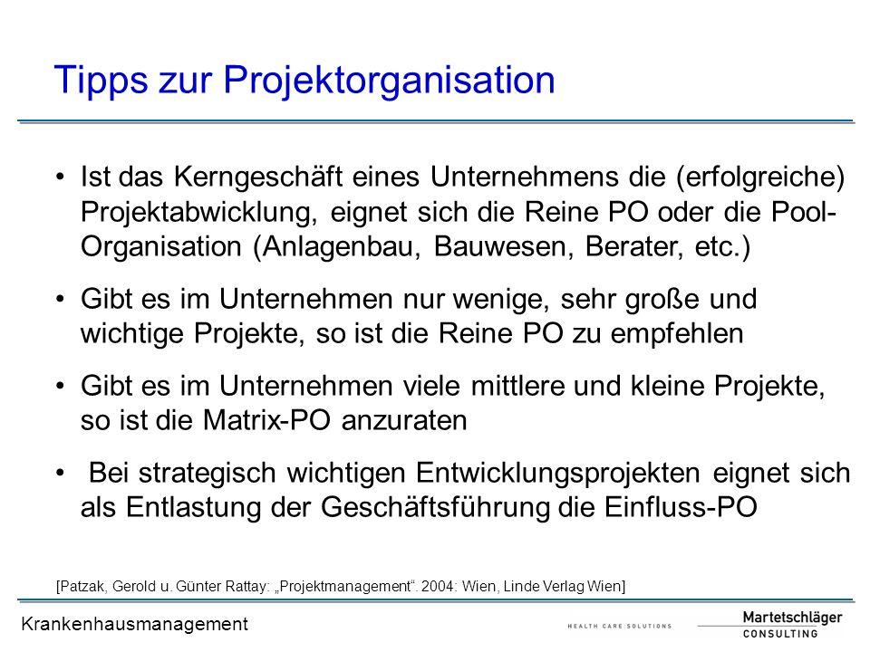 Tipps zur Projektorganisation