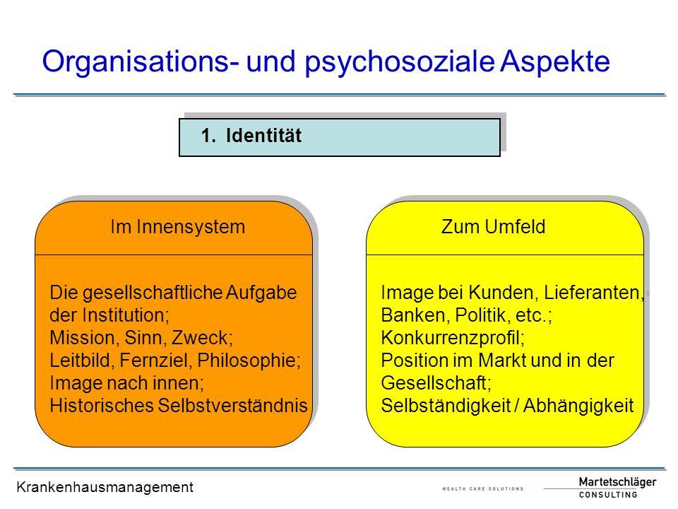 Organisations- und psychosoziale Aspekte
