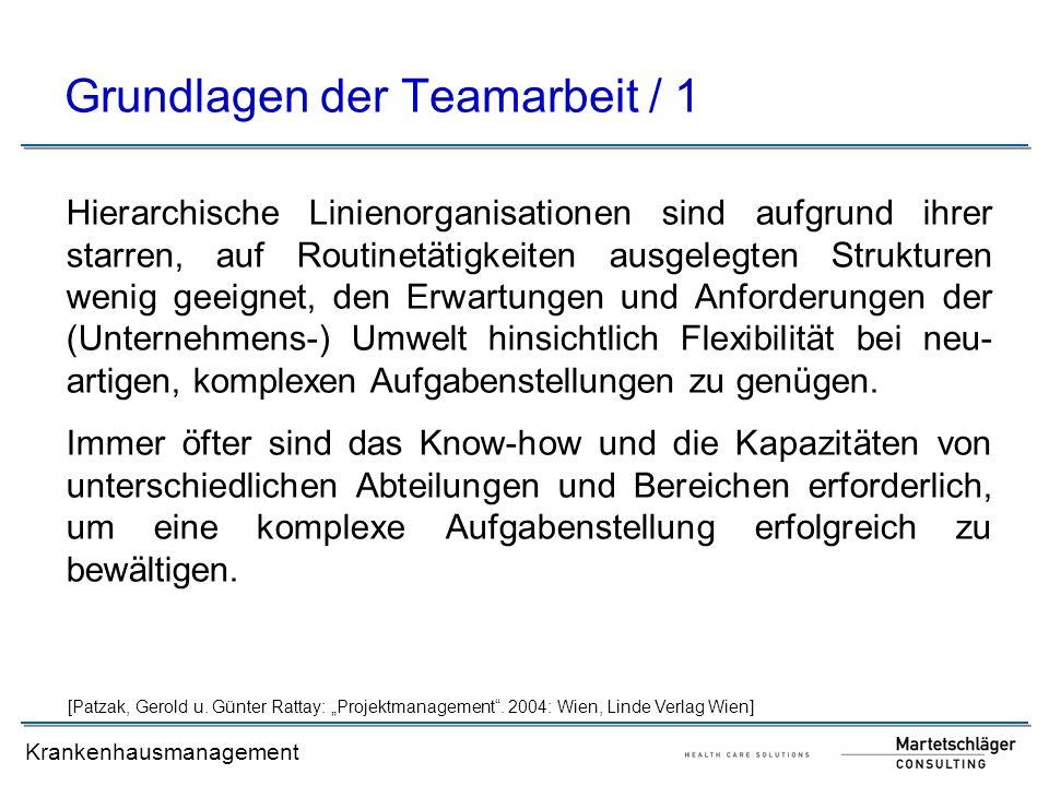 Grundlagen der Teamarbeit / 1