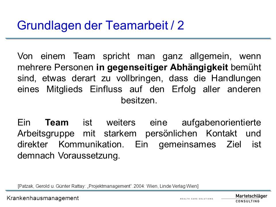 Grundlagen der Teamarbeit / 2