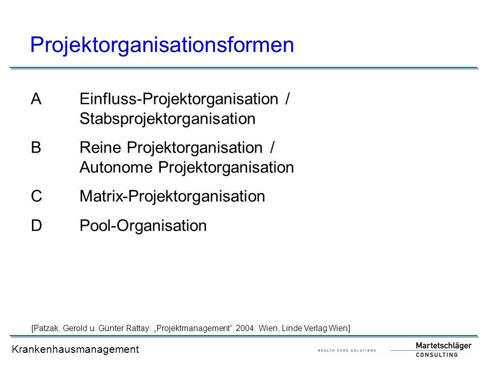Projektorganisationsformen