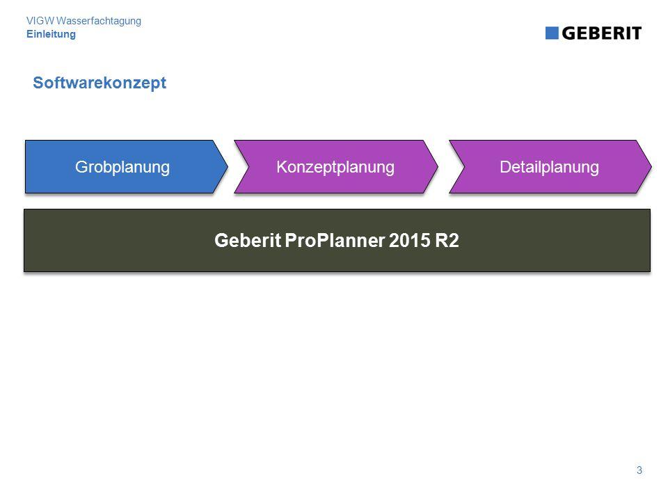 Geberit ProPlanner 2015 R2 Softwarekonzept Grobplanung Konzeptplanung