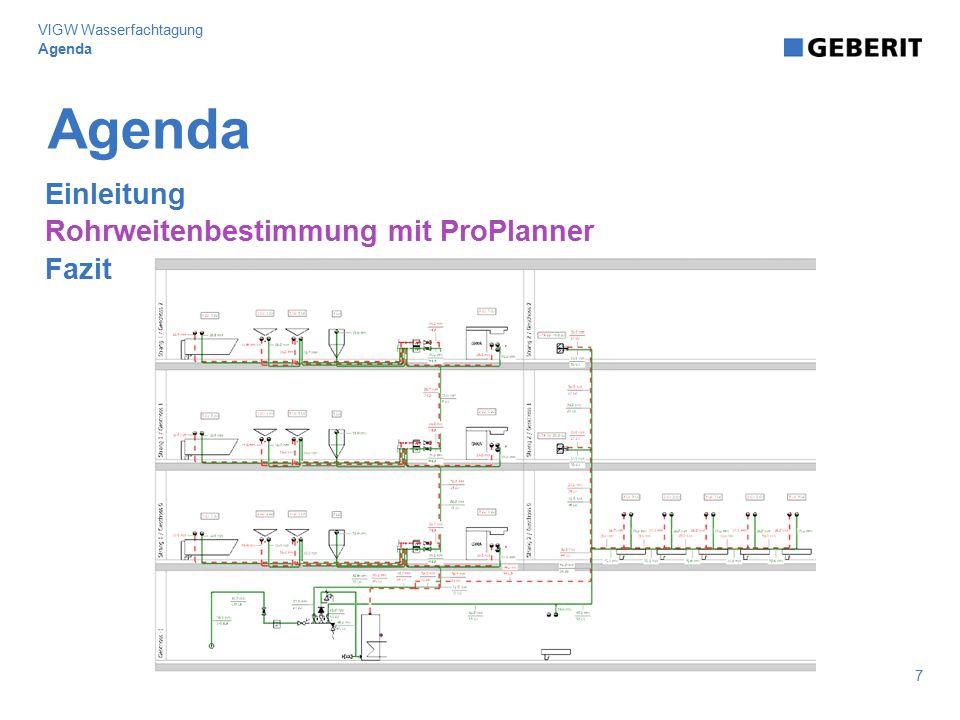Agenda Einleitung Rohrweitenbestimmung mit ProPlanner Fazit 7