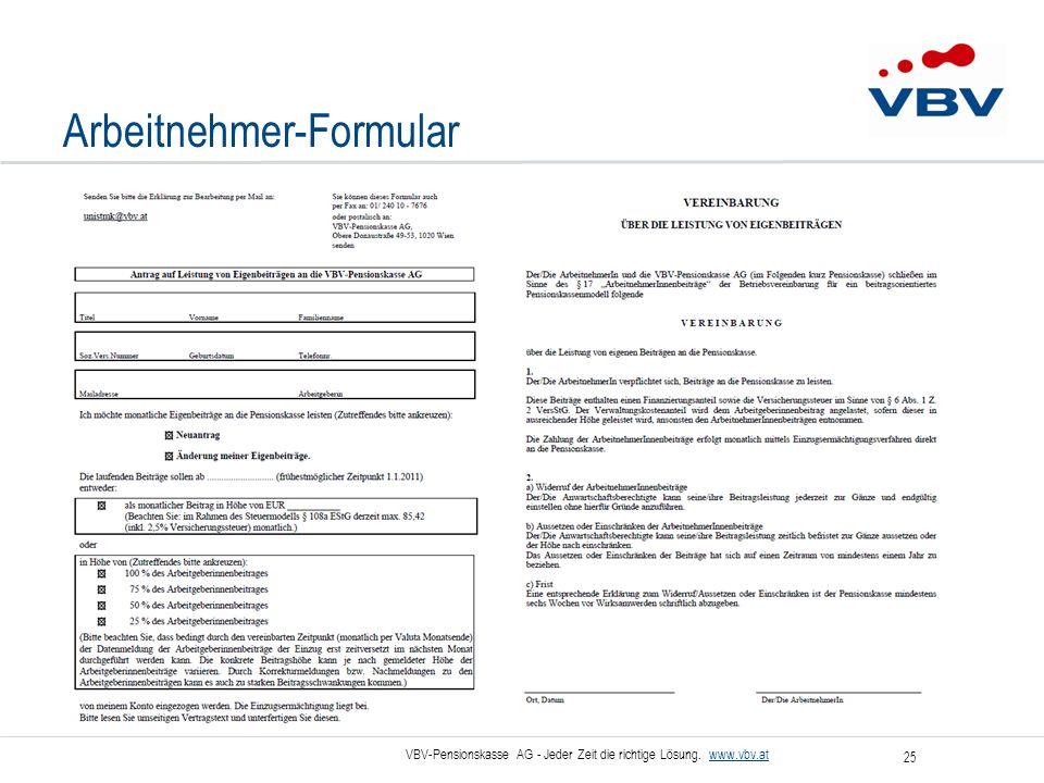 Arbeitnehmer-Formular