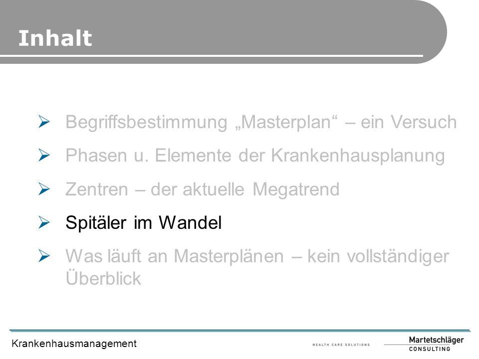 """Inhalt Begriffsbestimmung """"Masterplan – ein Versuch"""