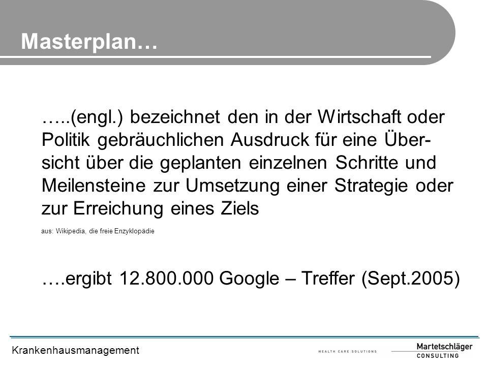 Masterplan…