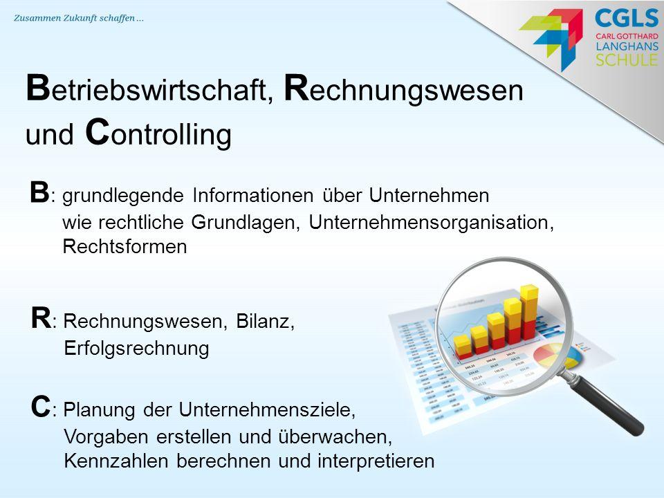 Betriebswirtschaft, Rechnungswesen