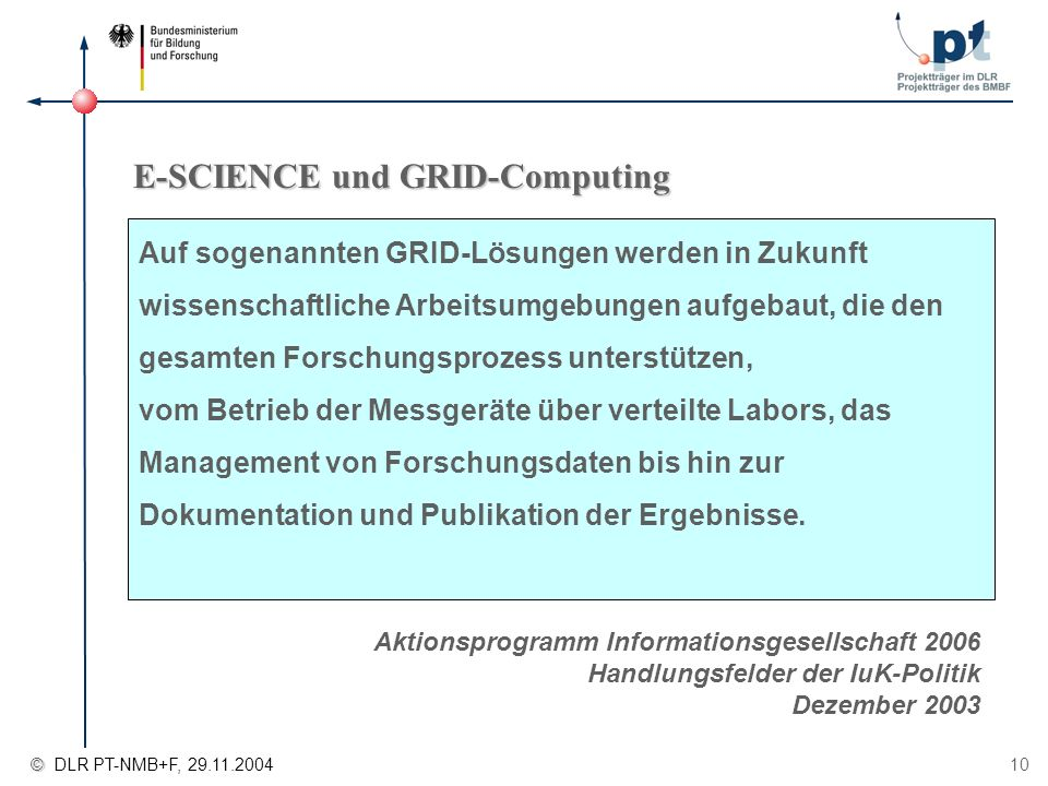 E-SCIENCE und GRID-Computing