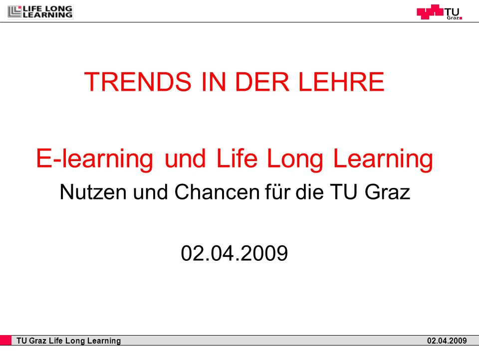 E-learning und Life Long Learning