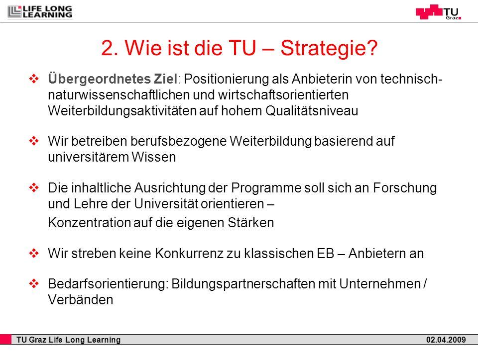 2. Wie ist die TU – Strategie