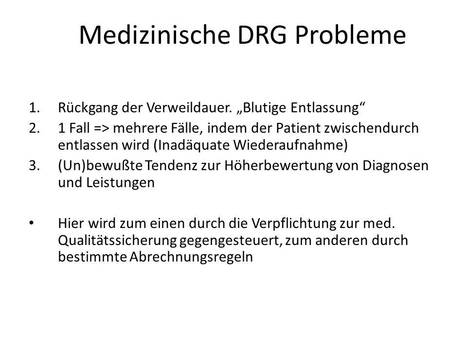 Medizinische DRG Probleme