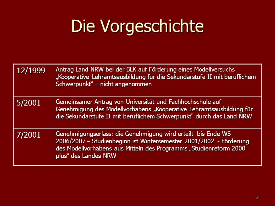 Die Vorgeschichte 12/1999.