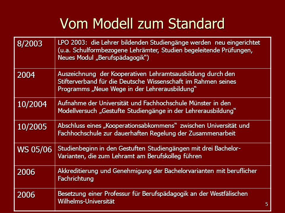 Vom Modell zum Standard