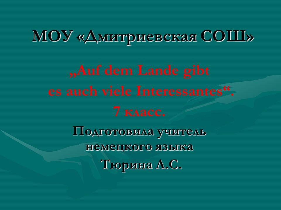 МОУ «Дмитриевская СОШ»