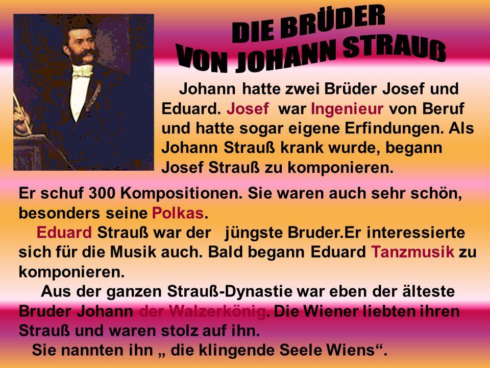 DIE BRÜDER VON JOHANN STRAUß
