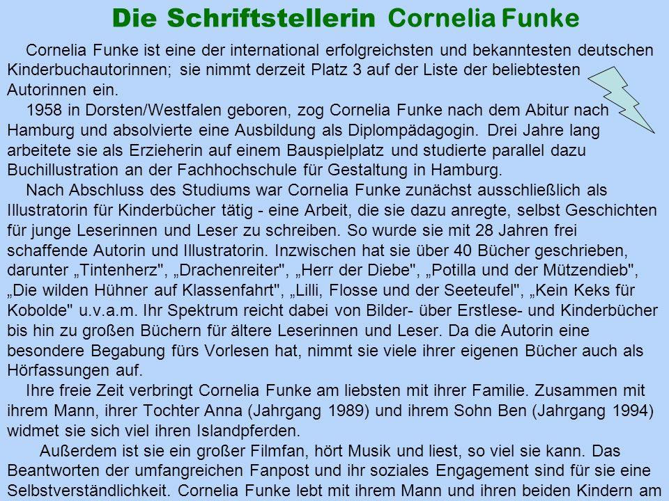 Die Schriftstellerin Cornelia Funke