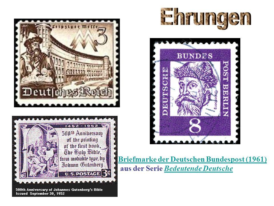 Ehrungen Briefmarke der Deutschen Bundespost (1961)