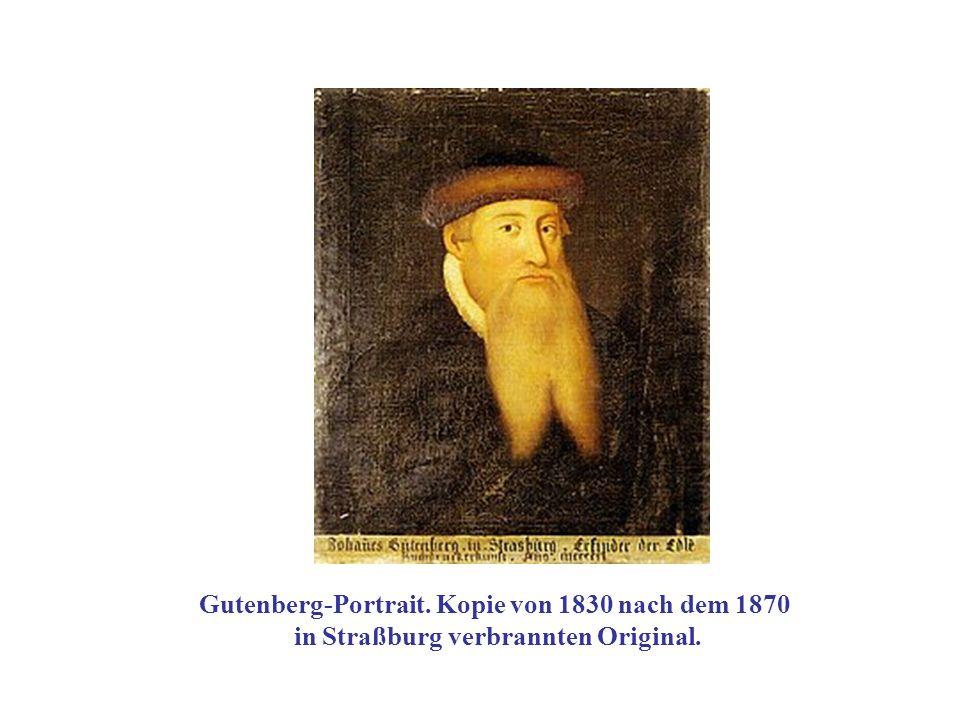Gutenberg-Portrait. Kopie von 1830 nach dem 1870