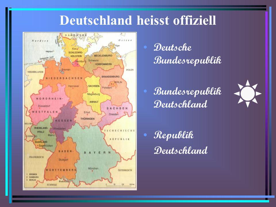 Deutschland heisst offiziell