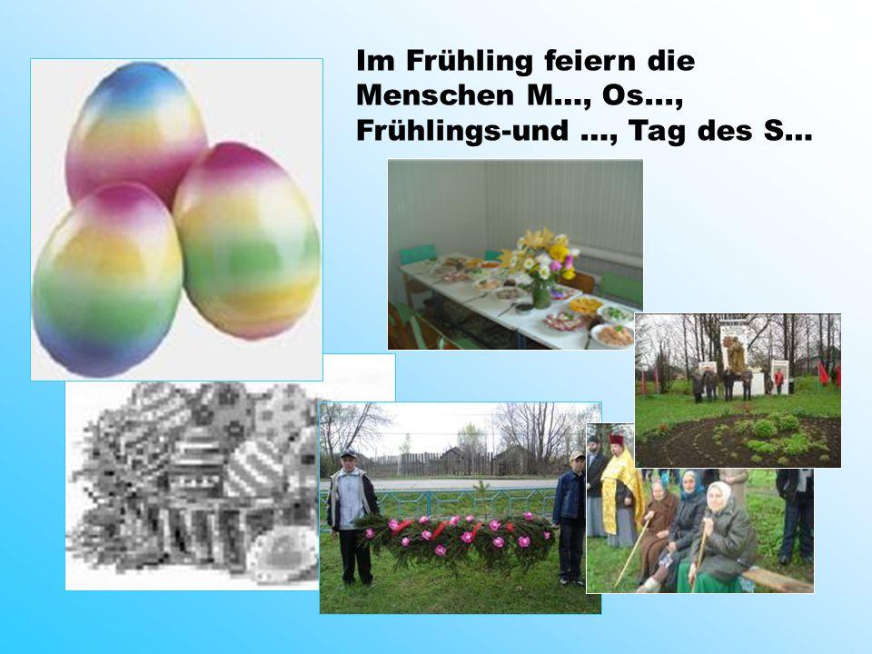Im Frühling feiern die Menschen M…, Os..., Frühlings-und …, Tag des S…