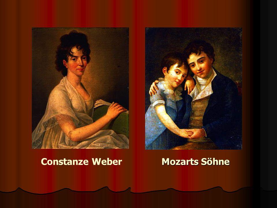 Constanze Weber Mozarts Söhne