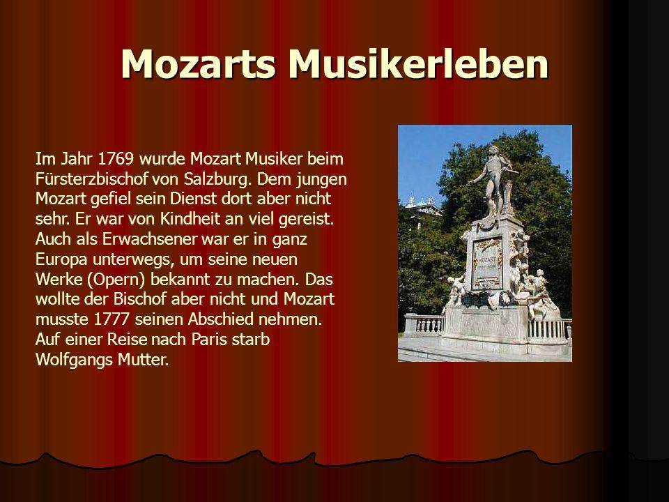Mozarts Musikerleben