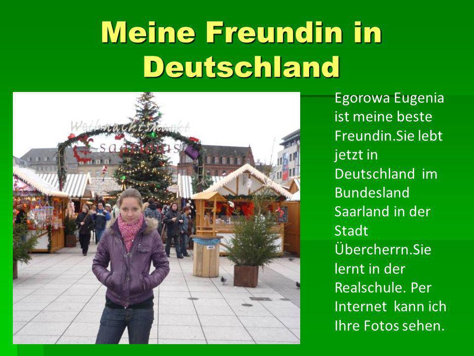 Meine Freundin in Deutschland