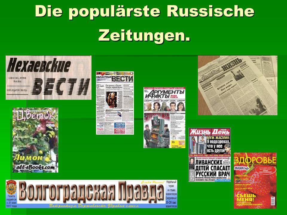 Die populärste Russische Zeitungen.