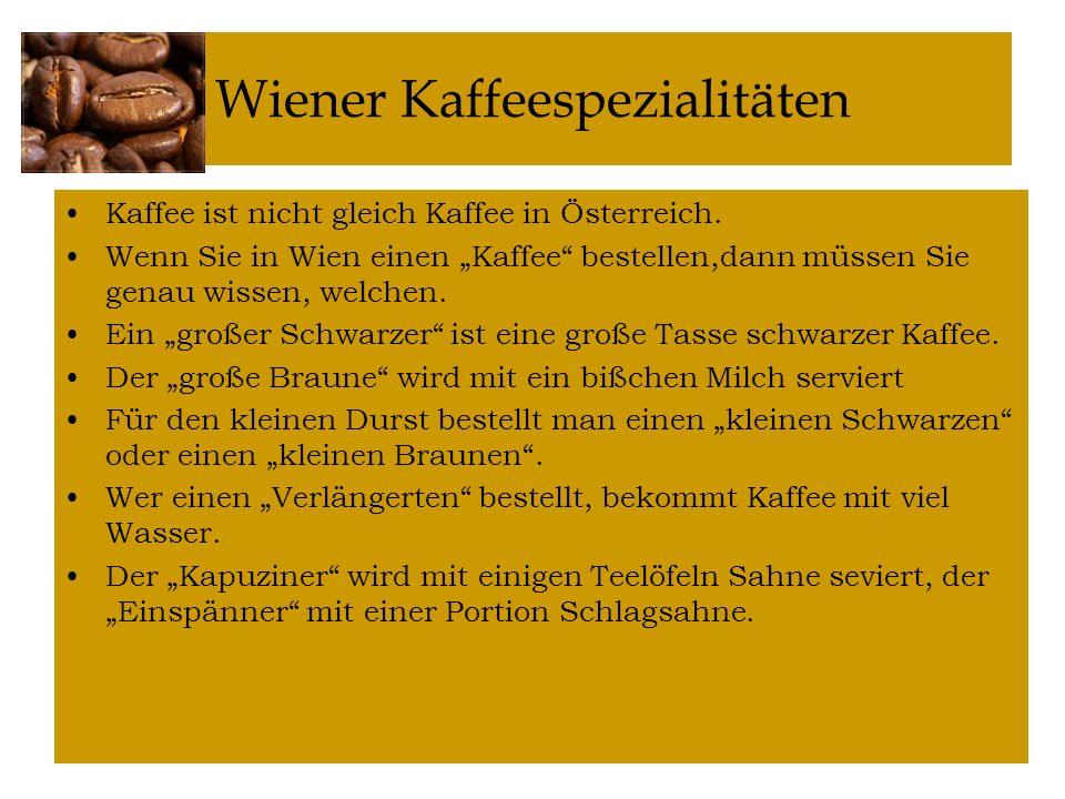 Wiener Kaffeespezialitäten