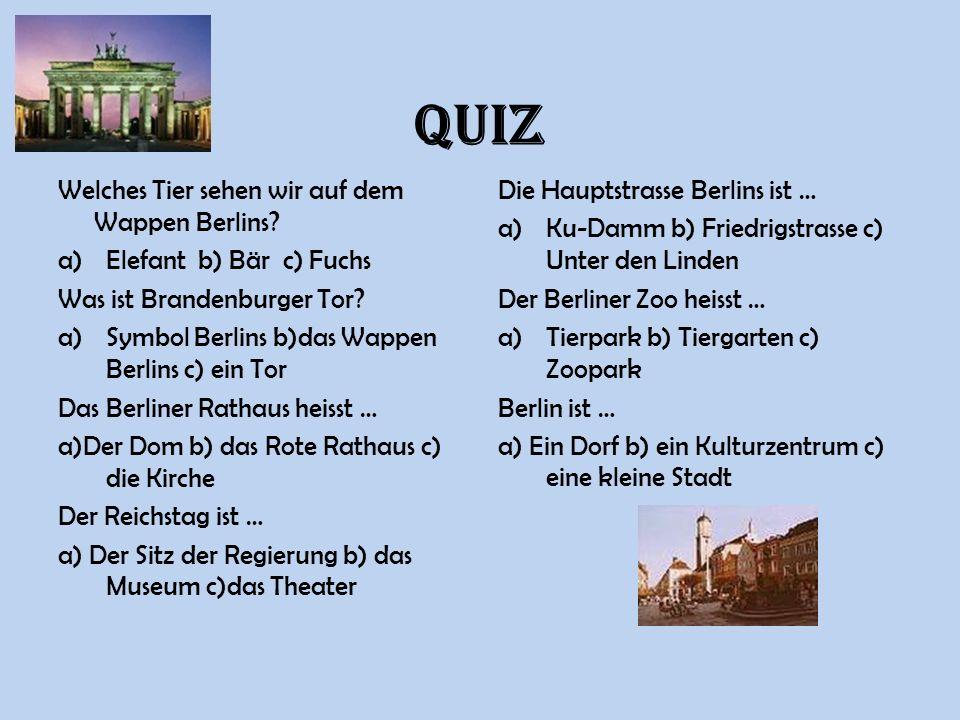 QUIZ Welches Tier sehen wir auf dem Wappen Berlins