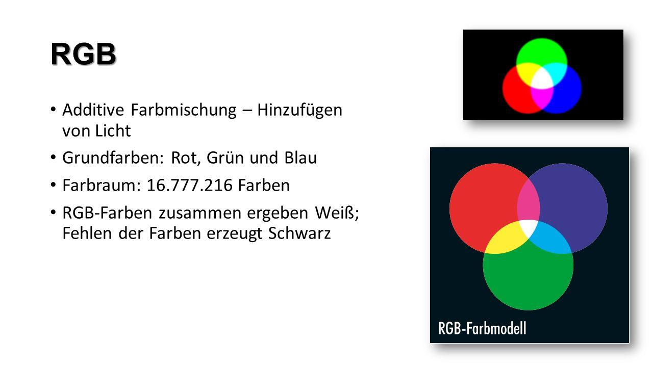RGB Additive Farbmischung – Hinzufügen von Licht