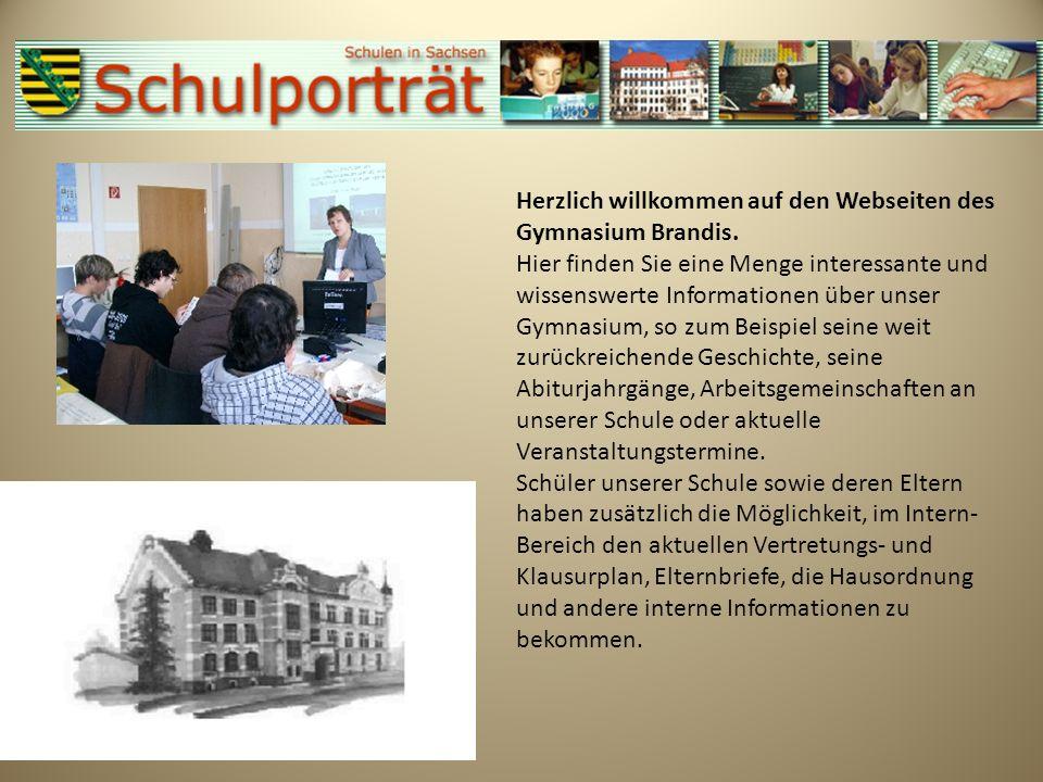 Herzlich willkommen auf den Webseiten des Gymnasium Brandis.