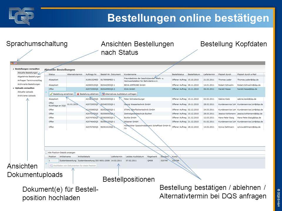 Bestellungen online bestätigen