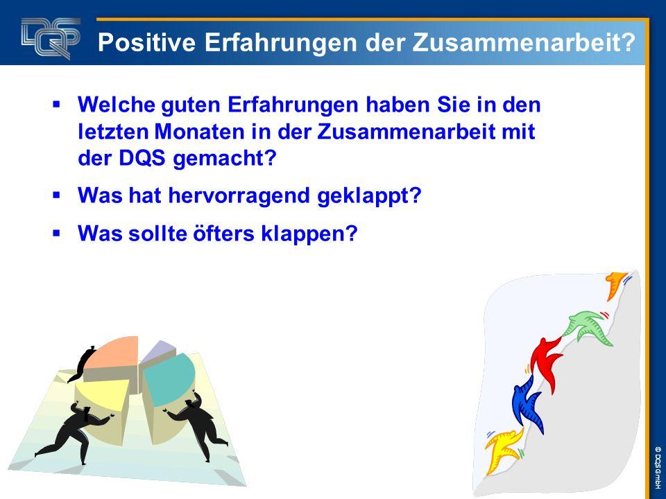 Positive Erfahrungen der Zusammenarbeit