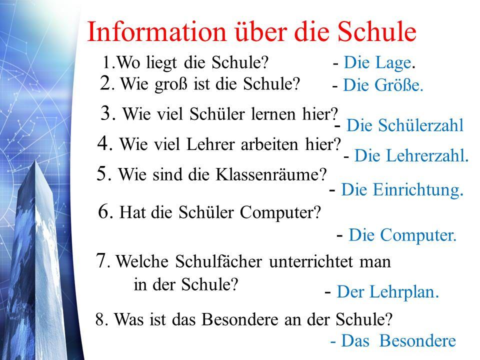 Information über die Schule