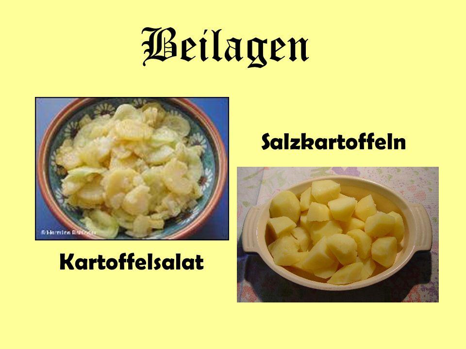 Beilagen Salzkartoffeln Kartoffelsalat