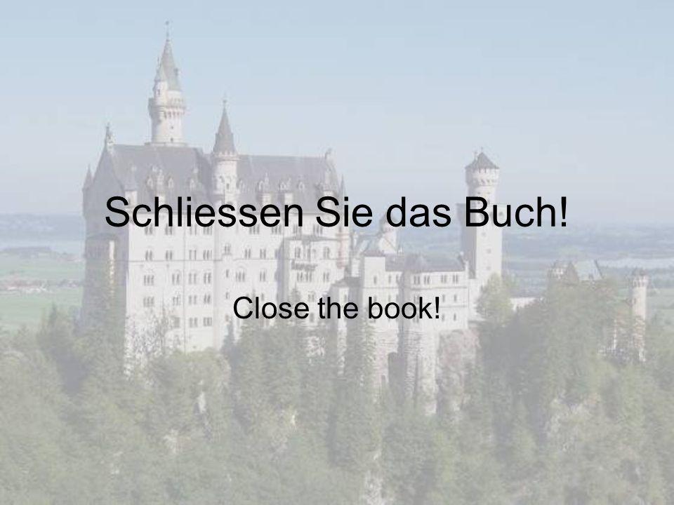 Schliessen Sie das Buch!