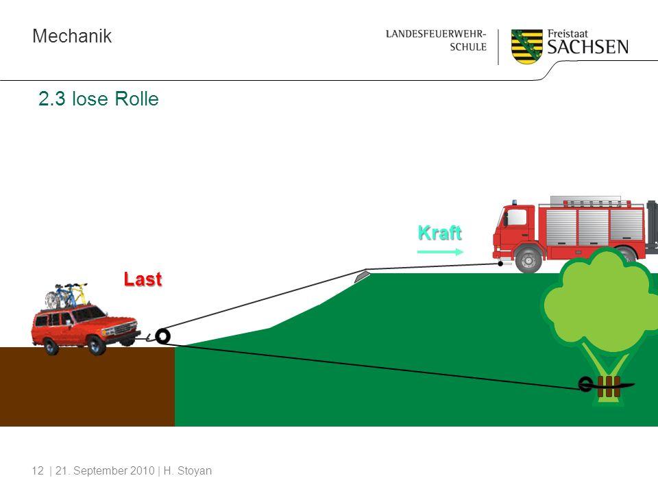 2.3 lose Rolle Kraft Last Q F = _____ 2 lF = 2lQ