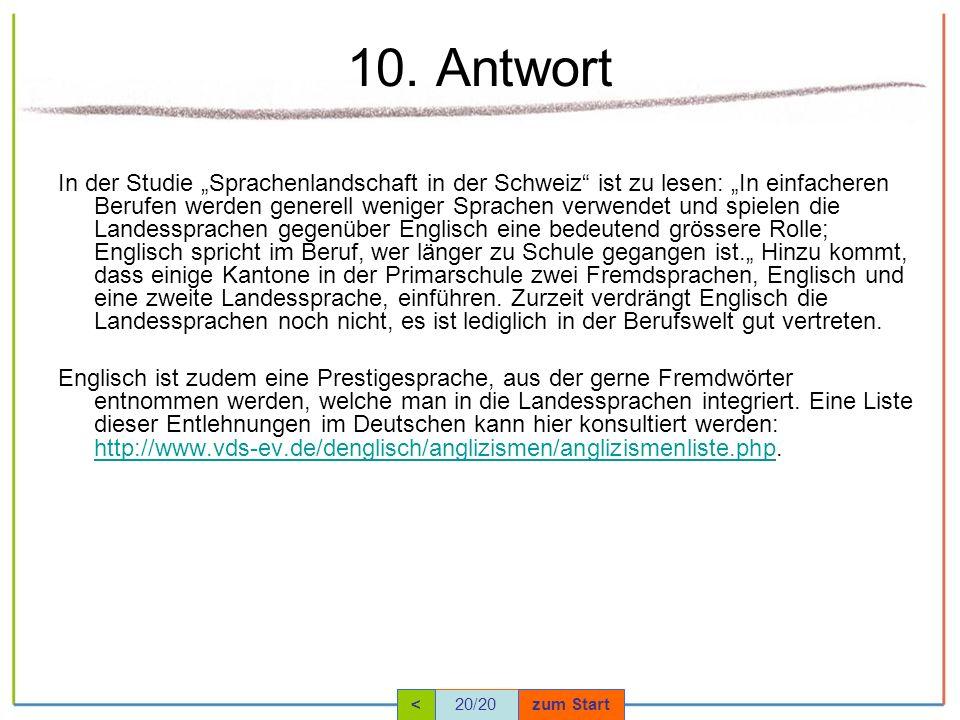 10. Antwort