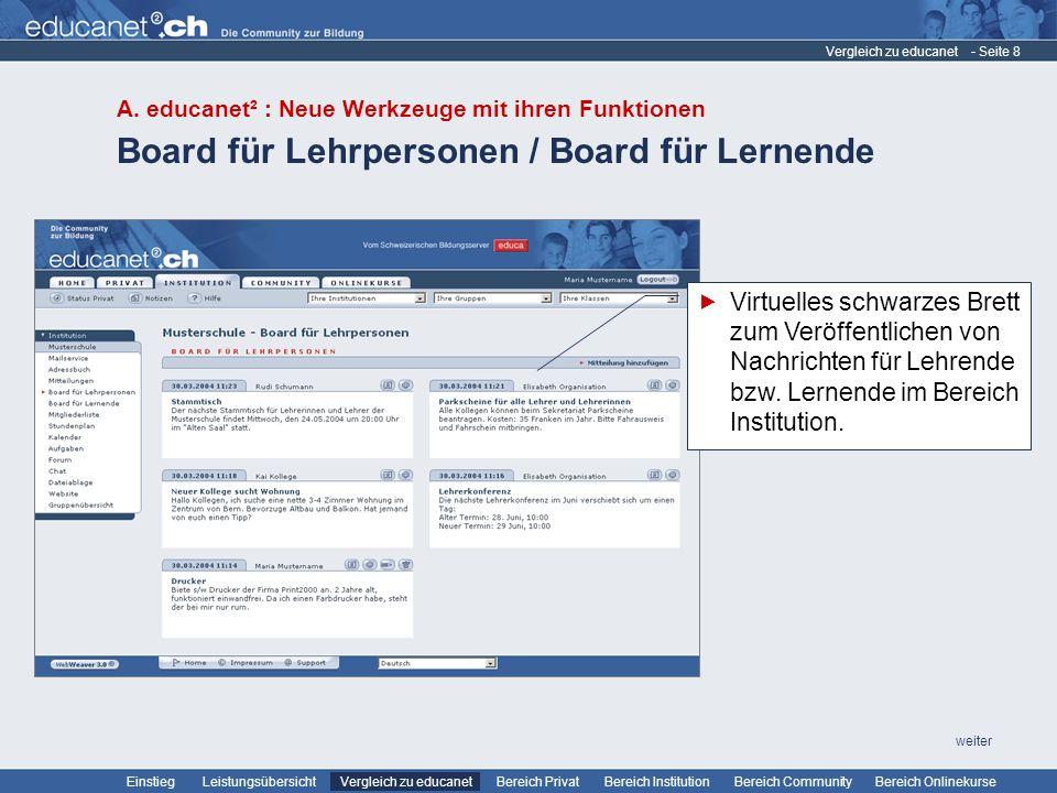 Board für Lehrpersonen / Board für Lernende
