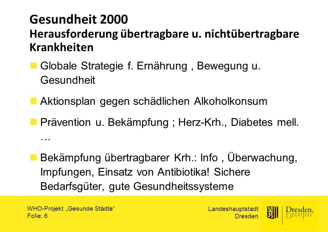 Gesundheit 2000 Herausforderung übertragbare u
